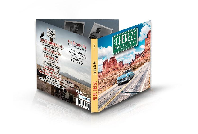 Digipack On Route 66 - Pierre Chérèze - Instrumental Album de 12 titres