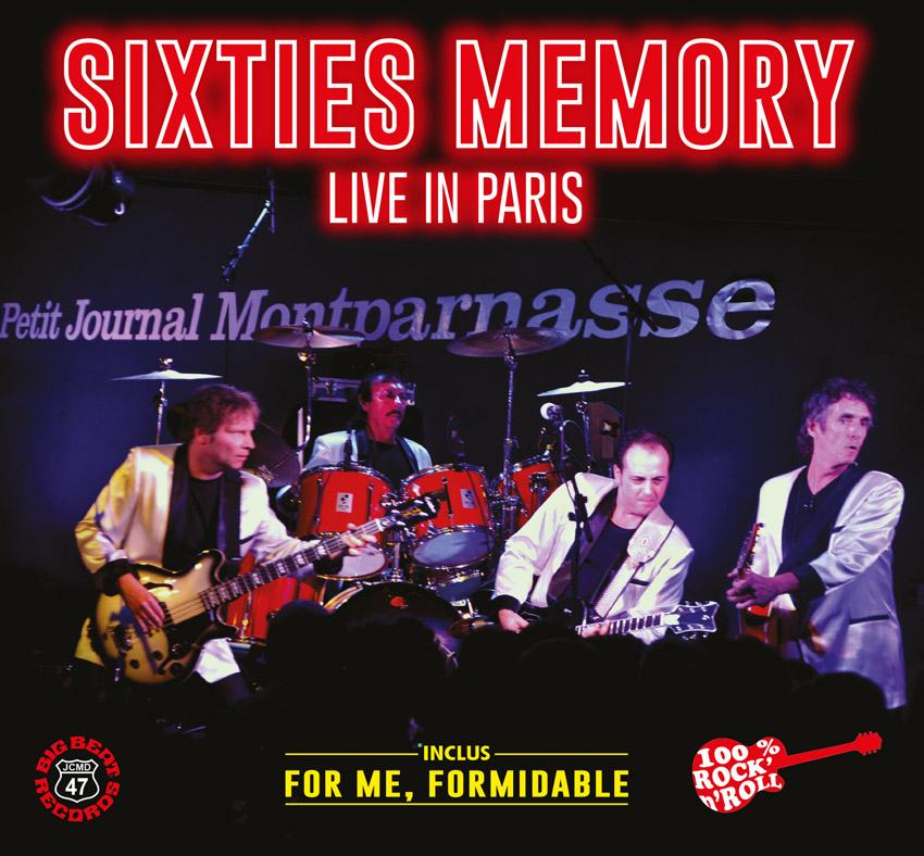 Digipack SIXTIES MEMORY Live In Paris CD 21 titres