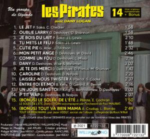 Dos Digipack Les Pirates avec Dany Logan et Jean Veidly - Un groupe de légende - Album