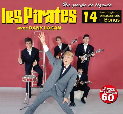 Face Digipack Les Pirates avec Dany Logan et Jean Veidly - Un groupe de légende - Album